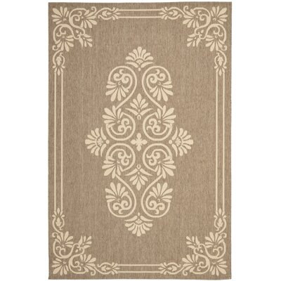 Beasley Brown/Creme Indoor/Outdoor Area Rug Rug Size: 6'7 x 9'6