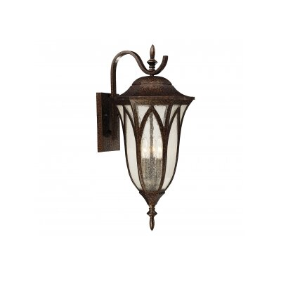Akers 3-Light Outdoor Wall Lantern