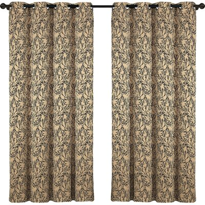 Chaplain Grommet Blackout Single Curtain Panel