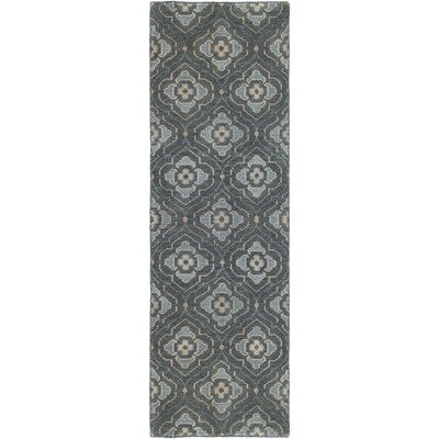Norwalk Hand-Knotted Blue Area Rug Rug size: Runner 26 x 8