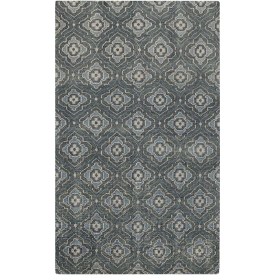 Norwalk Hand-Knotted Blue Area Rug Rug size: 8 x 11
