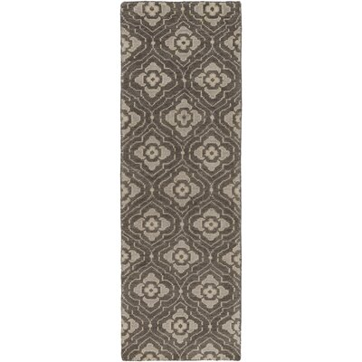 Norwalk Hand-Knotted Beige Area Rug Rug size: Runner 26 x 8