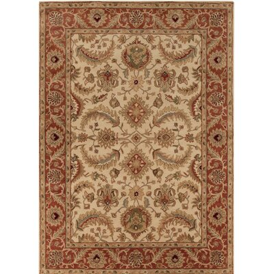 Elyria Hand-Tufted Red/Brown Area Rug