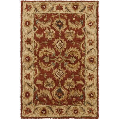 Elyria Hand-Tufted Red Area Rug