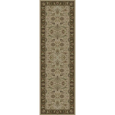Wiley Hand-Knotted Neutral/Green Area Rug Rug Size: Runner 2' x 3'