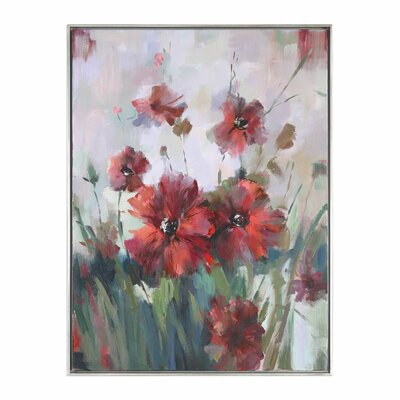 'Blooming Floral' Framed Painting Print