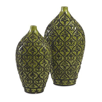 2 Piece Amaury Ceramic Vase Set