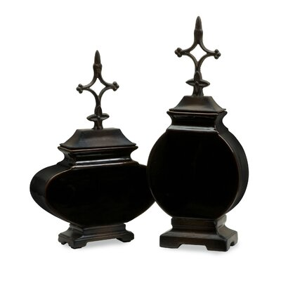 2 Piece Navigate Lidded Vase Set