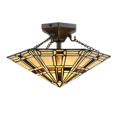 Gilreath 2-Light Semi Flush Mount