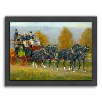 Morning Drive Framed Painting Print