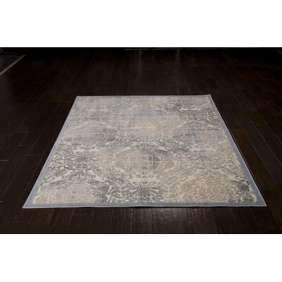 Arnott Sky Blue/Ivory Area Rug Rug Size: Rectangle 53 x 75