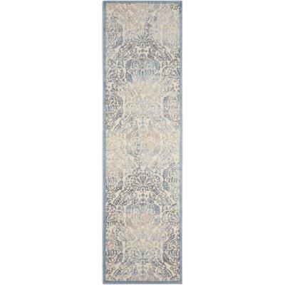 Arnott Sky Blue/Ivory Area Rug Rug Size: Runner 23 x 8