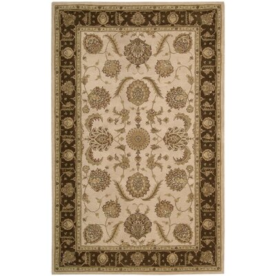 Lundeen Beige Floral Area Rug Rug Size: 39 x 59