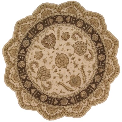 Lundeen Beige Floral Area Rug Rug Size: Novelty 6 x 6
