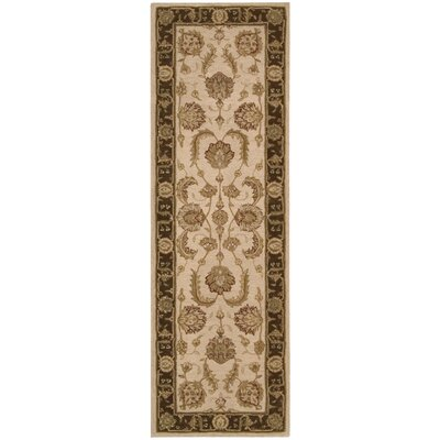 Lundeen Beige Floral Area Rug Rug Size: Runner 26 x 8