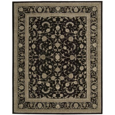 Lundeen Black Area Rug Rug Size: Rectangle 79 x 99