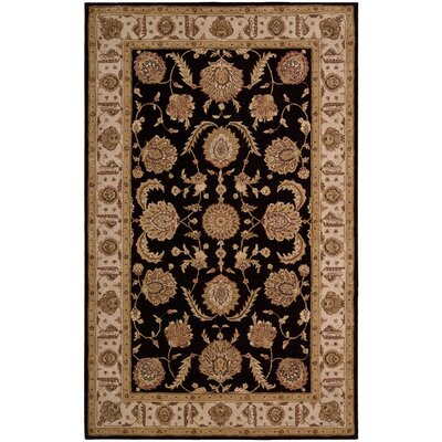 Lundeen Black Area Rug Rug Size: Rectangle 86 x 116
