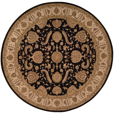 Lundeen Black Area Rug Rug Size: Round 9