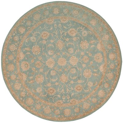 Lundeen Blue Area Rug Rug Size: Round 9
