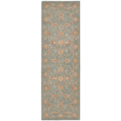 Lundeen Blue Area Rug Rug Size: Runner 26 x 8