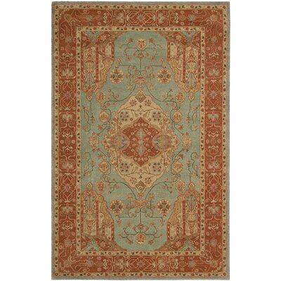 Lundeen Blue Geometric Area Rug Rug Size: 56 x 86