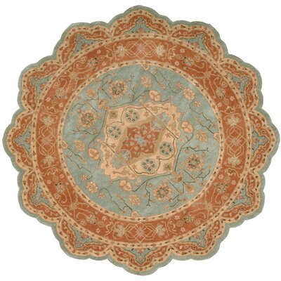Lundeen Blue Geometric Area Rug Rug Size: Novelty 6 x 6