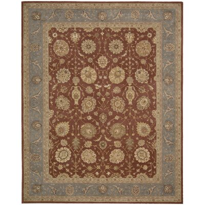 Lundeen Brick Area Rug Rug Size: Round 9