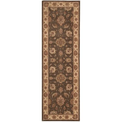 Lundeen Brown Area Rug Rug Size: Runner 26 x 8