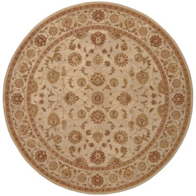 Lundeen Brown Area Rug Rug Size: Round 9