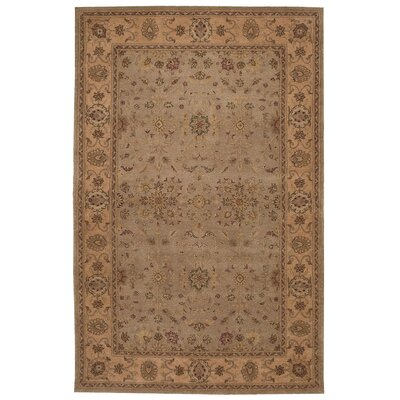Lundeen Brown/Tan Area Rug Rug Size: 56 x 86