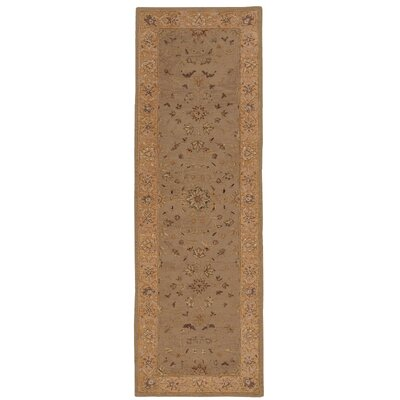 Lundeen Brown/Tan Area Rug Rug Size: Runner 26 x 8