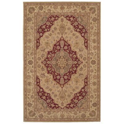 Lundeen Brown/Tan Floral Area Rug Rug Size: 39 x 59