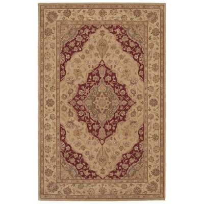 Lundeen Brown/Tan Floral Area Rug Rug Size: 56 x 86