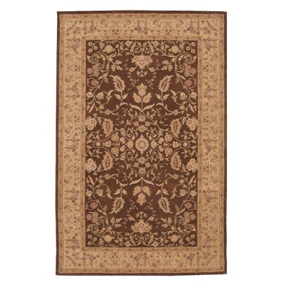 Lundeen Brown/Tan Floral Area Rug Rug Size: 26 x 42