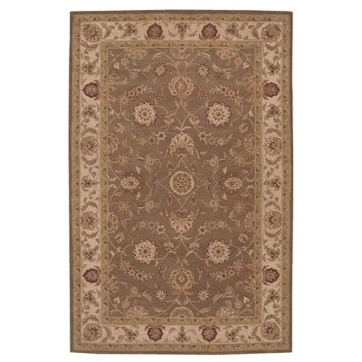 Lundeen Brown/Tan Floral Area Rug Rug Size: Rectangle 12 x 15