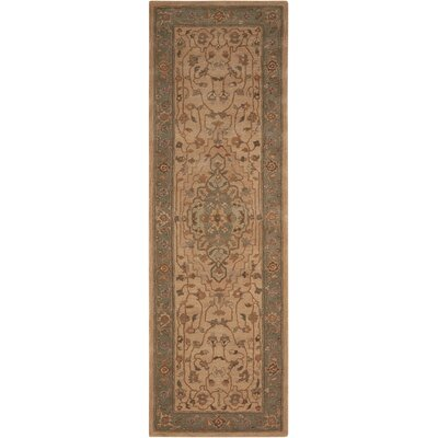 Lundeen Brown/Tan Geometric Area Rug Rug Size: Runner 26 x 8