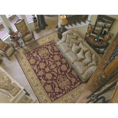 Lundeen Burgundy Area Rug Rug Size: Rectangle 56 x 86