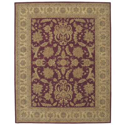 Lundeen Burgundy Area Rug Rug Size: Rectangle 39 x 59