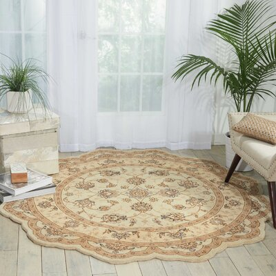 Lundeen Cream Area Rug Rug Size: Novelty 8 x 8