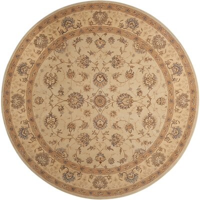 Lundeen Cream Area Rug Rug Size: Round 9 x 9
