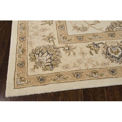 Lundeen Cream Area Rug Rug Size: Runner 26 x 8