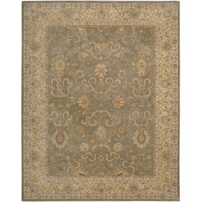 Lundeen Green Area Rug Rug Size: 56 x 86
