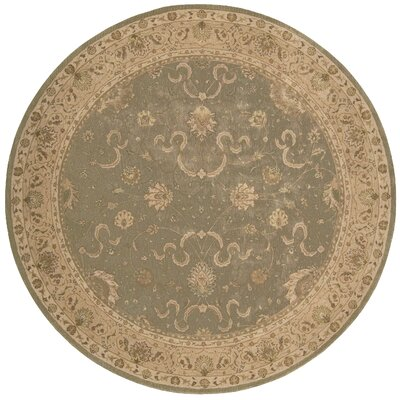 Lundeen Green Area Rug Rug Size: Round 8