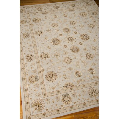 Lundeen Ivory/Light Blue Area Rug Rug Size: Rectangle 56 x 86