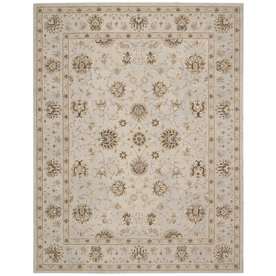 Lundeen Ivory/Light Blue Area Rug Rug Size: 79 x 99