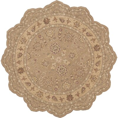 Lundeen Peach Area Rug Rug Size: Round 9