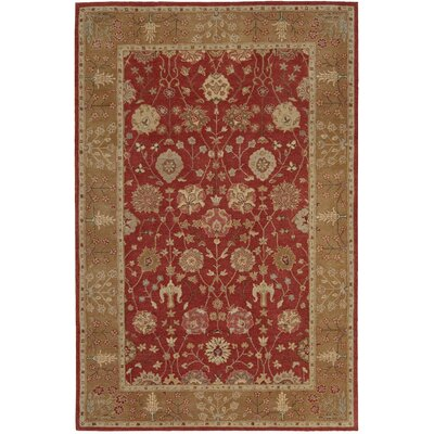 Lundeen Red Area Rug Rug Size: 56 x 86