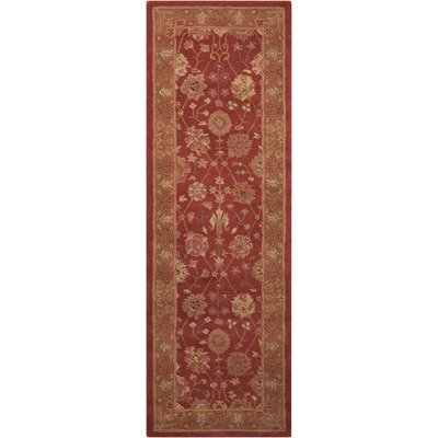Lundeen Red Area Rug Rug Size: Runner 2'6
