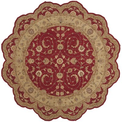 Lundeen Red Floral Area Rug Rug Size: Novelty 6 x 6
