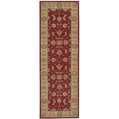 Lundeen Red Floral Area Rug Rug Size: Runner 26 x 8